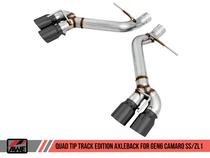 AWE Track Edition Axleback Exhaust with Black Diamond Quad Tips - 2016+ Chevy Camaro SS & ZL1 (6.2L V8) - 3020-43075