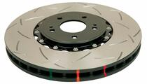 DBA 5000 Series Two Piece T3 Slotted Brake Rotor (Front) - 2012+ Jeep Grand Cherokee SRT8 (6.4L V8) - 52632BLKS
