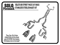 """Solo Performance 2.5"""" Street Race Catback Exhaust with Quad Tips - 2008-2009 Pontiac G8 GT & GXP - 994191"""