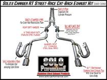 "Solo Performance 2.5"" Street Race Catback Exhaust- 2005-2010 Dodge Charger, Magnum & Chrysler 300 (5.7L V8) - 991179"