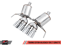AWE Touring Edition Valve Back Exhaust with Polished Silver Tips (for cars with AFM Valves) - 2017+ Chevy Corvette Stingray, Grand Sport & Z06 (6.2L V8) - 3015-42131