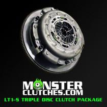 Monster LT1-S Organic Triple Disc Clutch Package (Rated to 1150 RWHP/RWTQ) - 2014-2019 Chevy Corvette Stingray & Z06 - MCLT1SC7