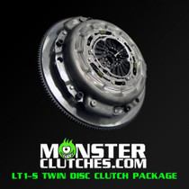 Monster LT1-S Twin Disc Clutch Package (Rated to 700 RWHP/RWTQ) - 1997-2004 Chevy Corvette C5 & Z06 (5.7L V8) - MCLT1SC5