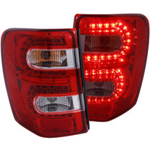 Anzo 311150 - 1999-2004 Jeep Grand Cherokee LED Taillights Red/Clear