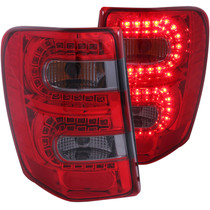 Anzo 311180 - 1999-2004 Jeep Grand Cherokee LED Taillights Red/Smoke