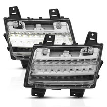 Anzo 511082 - 18-19 Jeep Wrangler JL LED Chrome Clear w/ Sequential Signal