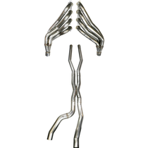 """Texas Speed 304 Stainless 2"""" Long Tube Headers with 3"""" Off Road X-pipe  - 2009-2015 Cadillac CTS-V (6.2L LSA) - TSP0914CTSVHXOR"""