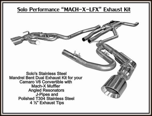 Solo Mach X-LFX Catback Exhaust- 2012+ Chevy Camaro Coupe & Convertible (V6)