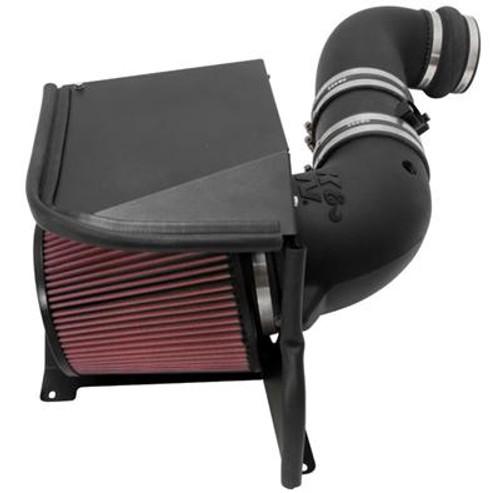 BLACK WRINKLE FINISH COLD AIR INTAKE+HEAT SHIELD FOR 2004-2005 6.6L DIESEL V8