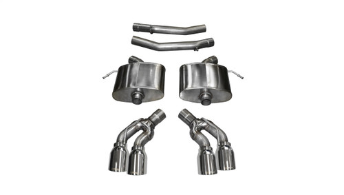 "Corsa Xtreme Axleback Exhaust w/ Quad Polished 4"" Pro Series Tips - 2016+ Cadillac CTS-V (6.2L V8)"