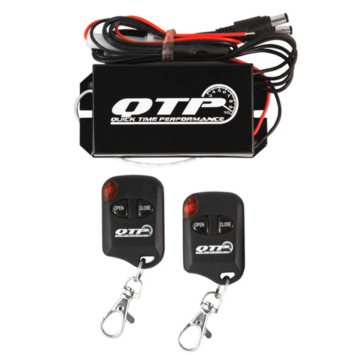 "QTP Low Profile Oval Electric Cutouts (works for 2.5"" or 3"" pipe) - Dual Kit - QTEC66"
