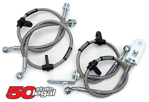 Russell Stainless Steel Brake Line Kit (Set of 4) - 2006-2010 Dodge Charger and Chrysler 300C (5.7L)
