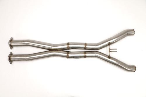 B&B Exhaust X-pipe DELETES CATS- 2014+ Corvette C7 Stingray & Z06 (6.2L V8) - FCOR-0630