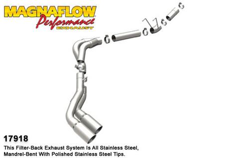 Magnaflow Performance Pro Series Dual System Diesel Exhaust, 2011-2012 Dodge Ram 2500HD/3500, L6 6.7L Diesel