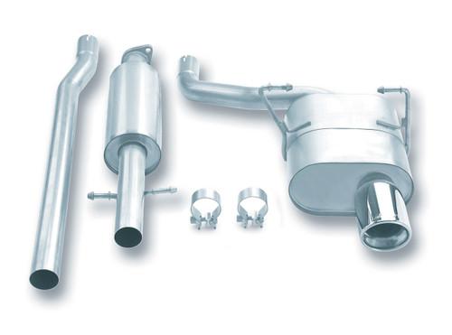 Borla Catback Exhaust w/Polished Tips - 2002-2007 Mini Cooper (1.6L 4CYL) - 140030