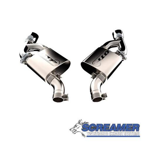 Quick Time Performance (QTP) Screamer Twintronic Dual Mode Axleback (Dual Tips) - 2016+ Chevy Camaro SS (6.2L V8)