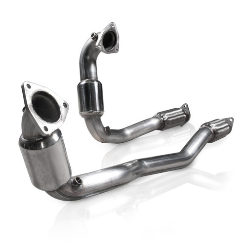 StainlessWorks Downpipes with High Flow Cats (Factory Connect) - 2010+ Ford Taurus SHO (3.5L Ecoboost)