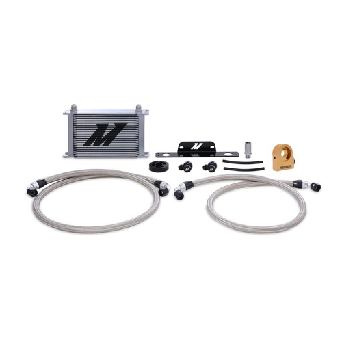 Mishimoto Oil Cooler Kit (Silver) - Thermostatic - 2010-2015 Chevy Camaro SS (6.2L V8)