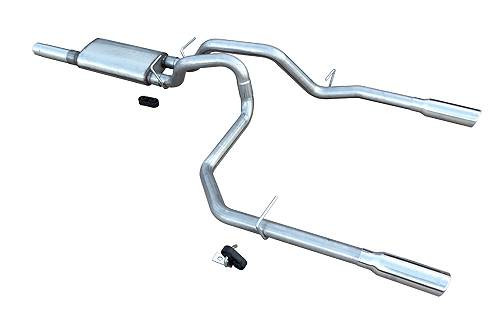 Pypes Catback Exhaust with Violator Muffler- Dual Rear Exit - 2014-2018 Chevy Silverado & GMC Sierra (5.3L V8)