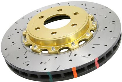DBA 5000 Series  Gold Hat Two Piece Drilled & Slotted Brake Rotor (Front) - 2010-2015 Chevy Camaro SS, 2014-2017 SS Sedan & 2009 Pontiac G8 GXP (6.2L V8)