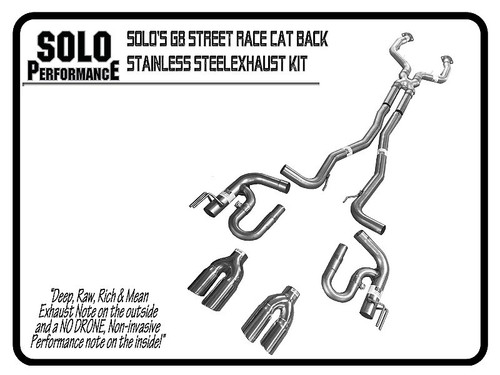 """Solo Performance 3"""" Street Race Catback Exhaust with Quad Tips - 2008-2009 Pontiac G8 GT & GXP"""
