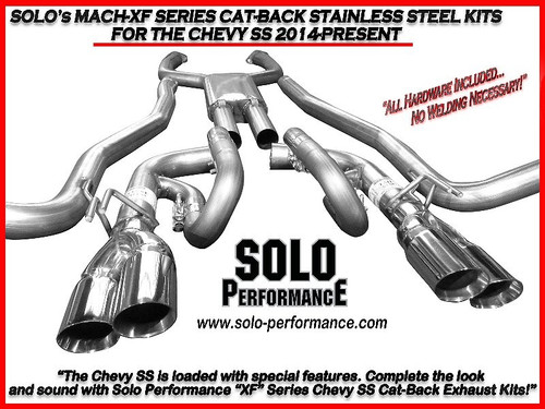 "Solo Performance 2.5"" Mach Shorty  Balanced FX Exhaust- 2004-2018 Chevy SS Sedan (6.2L V8)"