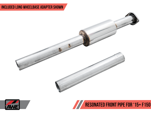 AWE Resonated Performance Mid Pipe- 2015+ Ford F-150 (2.7L/3.5L Ecoboost & 5.0L V8) - 3015-11048