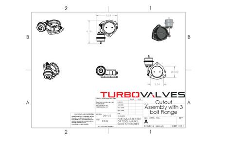 "Turbo Valves by Armageddon : 3"" Round Universal Exhaust Cutouts (Single Kit) - TV3010K"