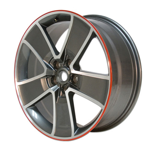 "SLP 20"" Five Spoke Redline Wheels (Gray with Machined Face) - 2010-2015 Chevy Camaro"