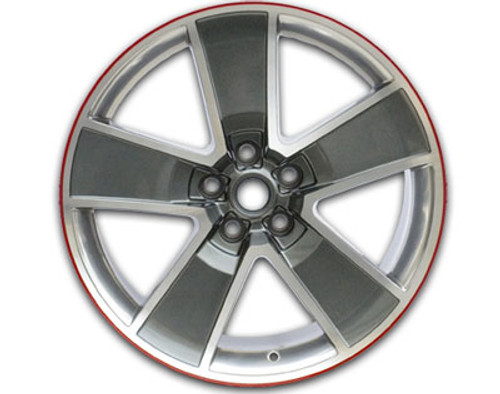 "SLP 20"" Five Spoke Redline Wheels (Gray with Machined Face and Chrome like Windows) - 2010-2015 Chevy Camaro - 81070A"