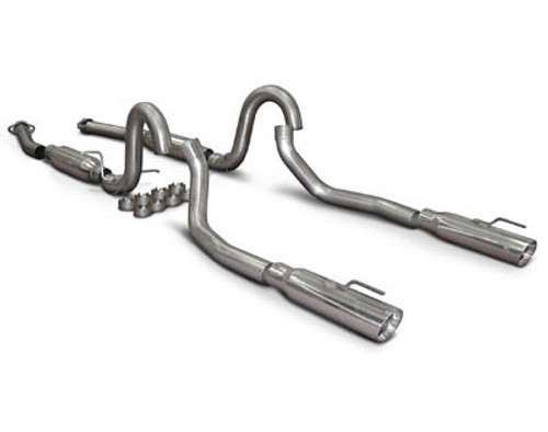 SLP Loudmouth II Catback Exhaust - 1998 Ford Mustang GT & Cobra