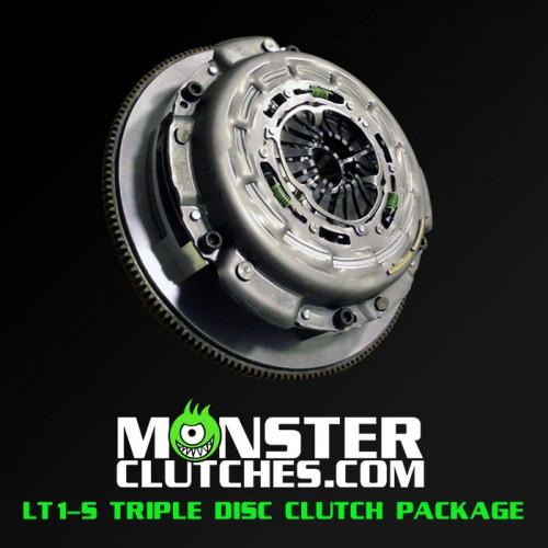 Monster LT1-SC Triple Disc Clutch Package (Rated to 1500 RWHP/RWTQ) - 1997-2004 Chevy Corvette C5 & Z06 (5.7L V8) - MCLT1SCTRSCC5P