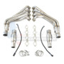 """Texas Speed 304 Stainless 2"""" Long Tube Headers with 3"""" Off Road Connection Pipes - 2010-2015 Chevy Camaro SS & ZL1 - TSPG5304HOR-200"""