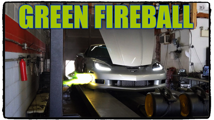 Eric's Corvette Hits the Dyno and Shoots out a Green Flame