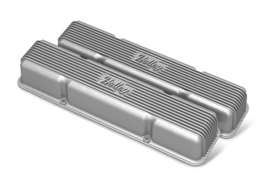 Holley Sbc Valve Covers Center-Bolt Finned Non