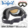 Motorcycle Goggles - Airfoils - 9329 - Polarized Brown