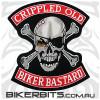 Patch - Crippled Old Biker Bastards - Large
