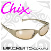Motorcycle Sunglasses - Chix Heavenly - Champagne Mirror/Champag
