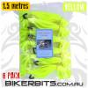Gotcha Straps - 5cm wide x 1.5 metres long - 6 Pack- Yellow -NB