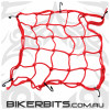 Tie Downs - Motorcycle Cargo Net - Red