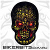 Biker Decal - Boneyard Skull