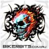 Biker Decal - Tribal Flame Skull
