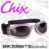 Motorcycle Goggles - Chix Nomad - Smoke/Purple