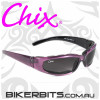 Motorcycle Sunglasses - Chix Rally - Grey Gradient/Purple