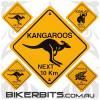 Biker Decal - Australian Road Signs