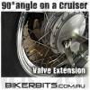 Motorcycle Valve Extender - 90 Degrees - Chrome