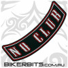 Patch - Biker Club Rocker - NO CLUB - Red