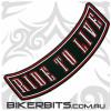 Patch - Biker Club Rocker - RIDE TO LIVE - Red