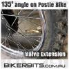 Motorcycle Valve Extender - 135 Degrees