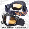Motorcycle Goggles - Kickstart Victory Orange Mirror Anti-Fog